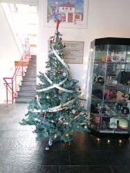 Weihnachtsbaum Eingang Wache