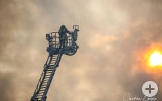 Brandeinsatz Drehleiter