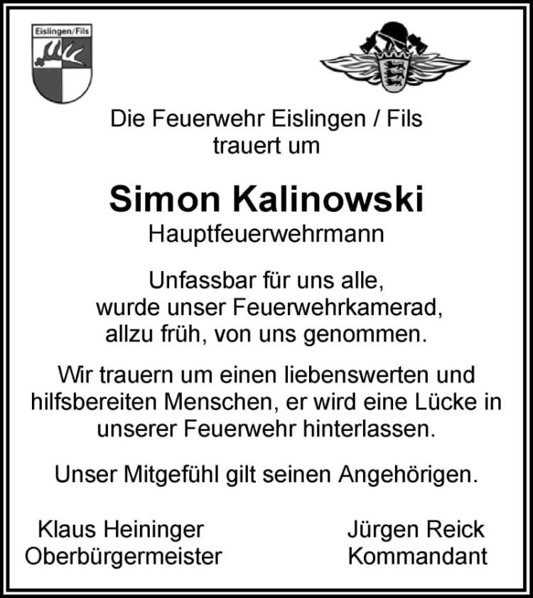 Nachruf Simon Kalinowski