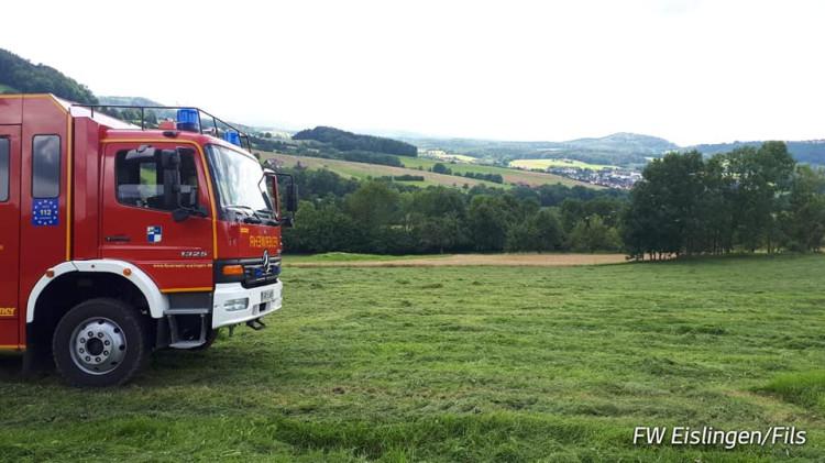 Einsatz-Nr. 061-2021 Brand Traktor Ottenbach